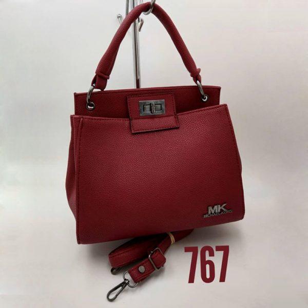 Michael Kors Bag Leather ( Dark Red )