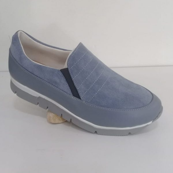 Shoes Leather ( Bright Grey )